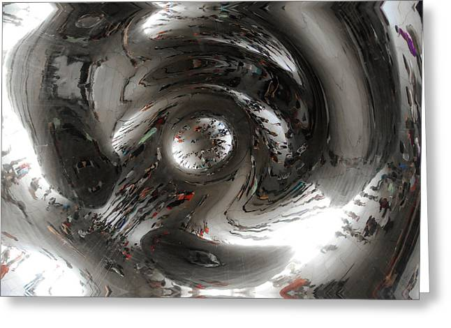 Abstract Underbelly Of The Bean, Chicago Il Greeting Card