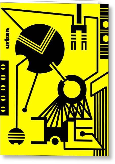Abstract Urban 02 Greeting Card by Dar Geloni