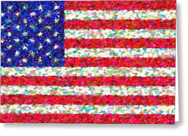Abstract Usa Flag 3 Greeting Card by Celestial Images