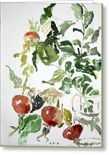 Abstract Vegetables Greeting Card