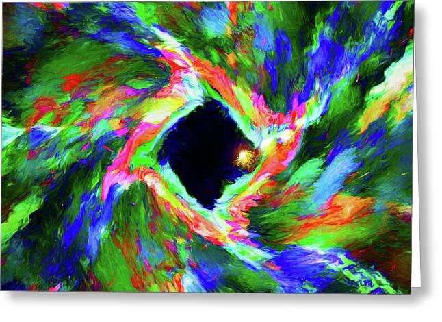 Abstract - Warp Greeting Card