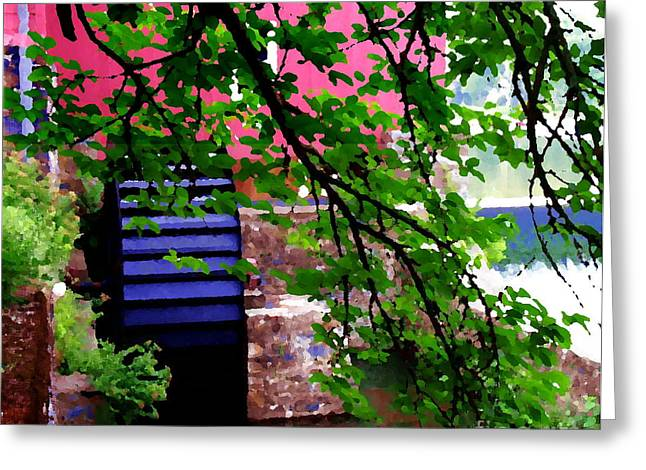 Abstract - Water Wheel Greeting Card by Jacqueline M Lewis
