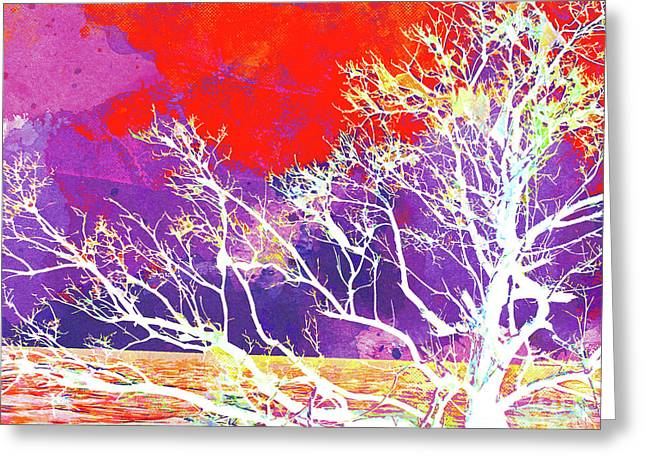 Abstract Watercolor - Abstract Tree Greeting Card