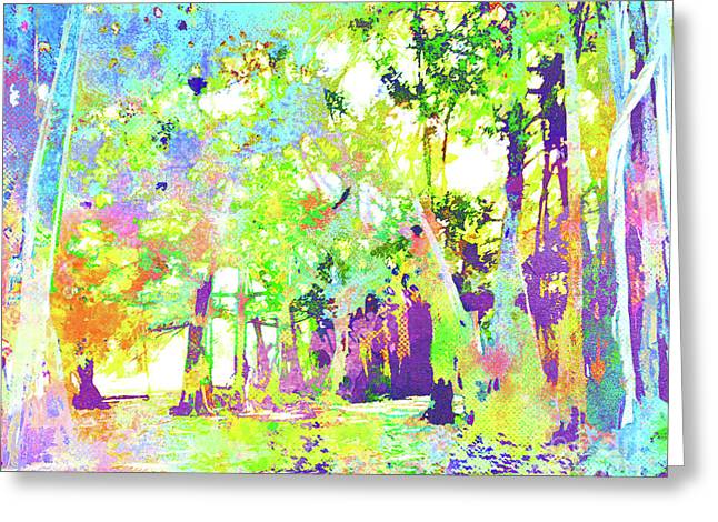 Abstract Watercolor - Banyan Forest II Greeting Card