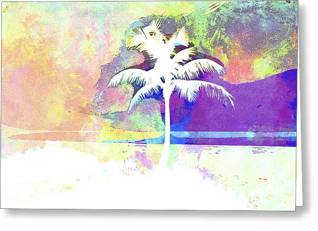 Abstract Watercolor - Beach Sunset II Greeting Card