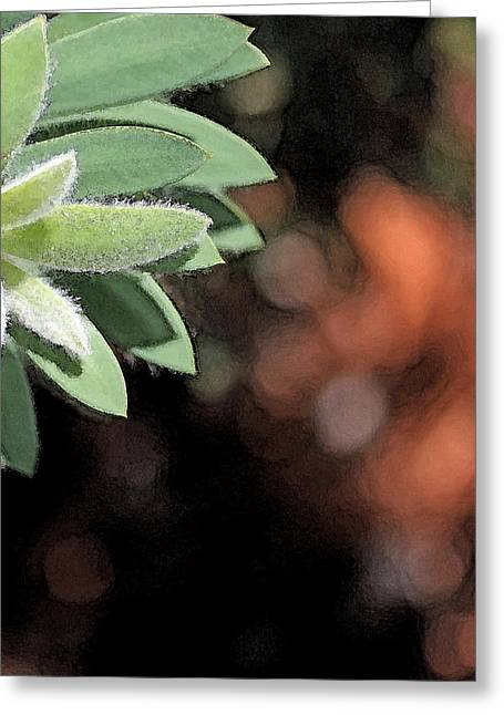 Greeting Card featuring the photograph Abstract Watercolor by Judy Vincent