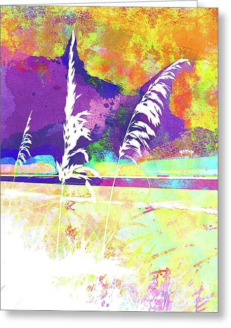 Abstract Watercolor - Morning Sea Oats II Greeting Card