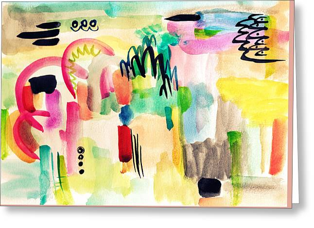 Abstract Watercolor Painting Greeting Card by My Art