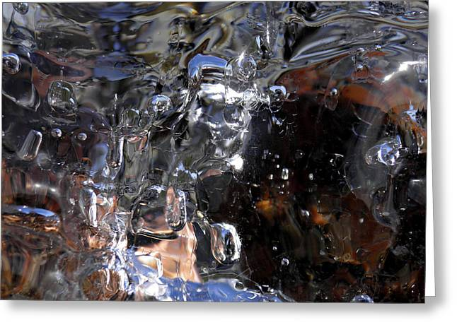 Greeting Card featuring the photograph Abstract Waterfall by Sami Tiainen