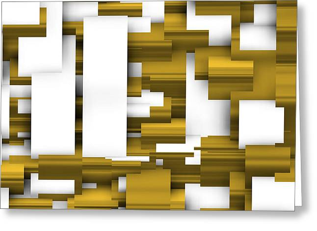 Abstract White And Gold. Greeting Card