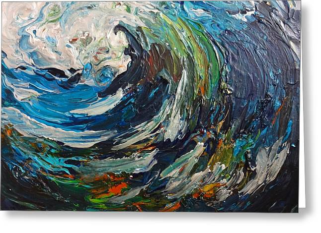 Abstract Wild Wave  Greeting Card