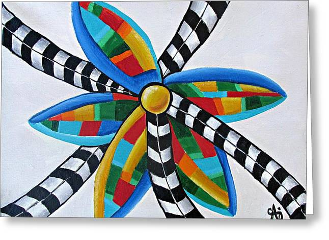 Abstract Windmill  Greeting Card