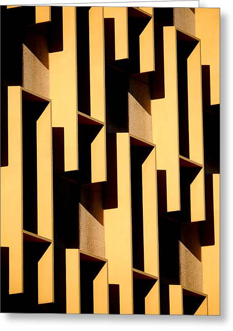 State Building Abstract Greeting Card