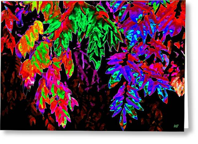 Wisteria Leaves Greeting Cards - Abstract Wisteria Greeting Card by Will Borden