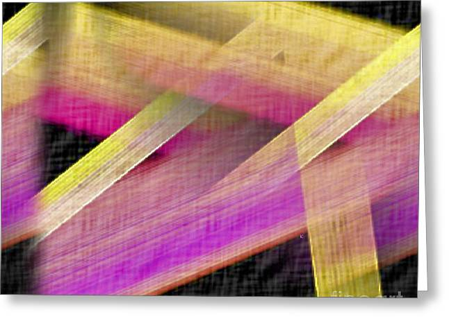 Abstract With A Black Background Greeting Card by John Krakora