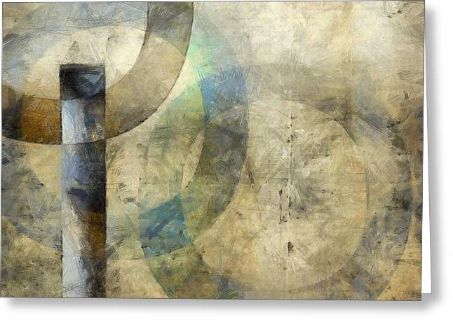 Abstract With Circles Greeting Card by Edward Fielding