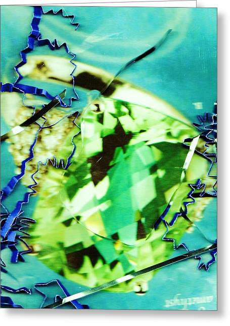 Abstract With Green And Blue Greeting Card