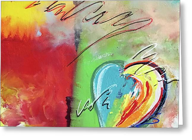 Abstract With Heart Greeting Card