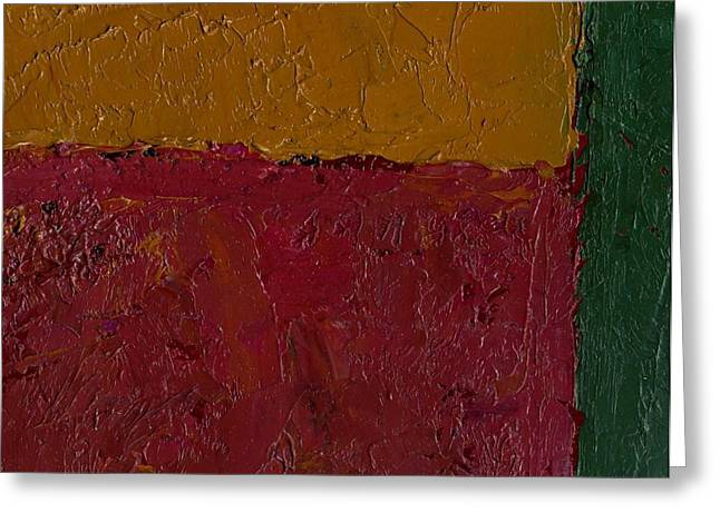 Abstract Xv Green Buffer Greeting Card by Chris  Riley