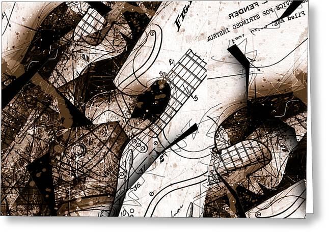 Abstracta 23 Strat No. 6 Greeting Card by Gary Bodnar