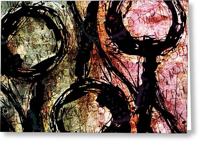 Abstracta_06 Greeting Card by Gary Bodnar