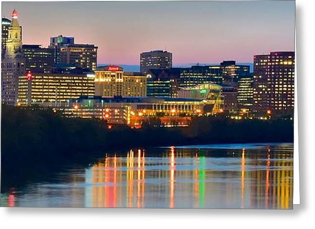 Hartford Connecticut Panorama Greeting Card by Frozen in Time Fine Art Photography