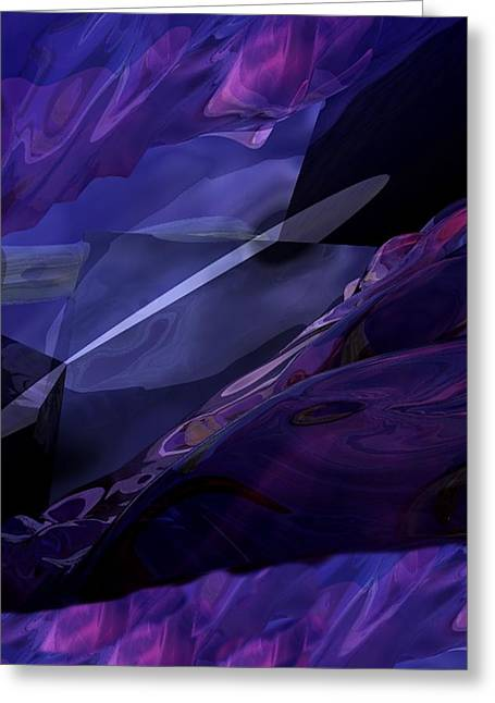 Abstractbr6-1 Greeting Card by David Lane