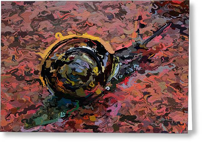 Abstracted Snail 318 Greeting Card