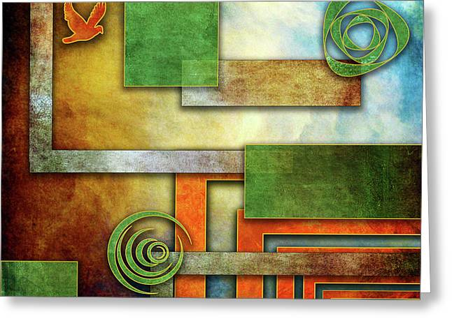 Greeting Card featuring the digital art Abstraction 2 by Chuck Staley