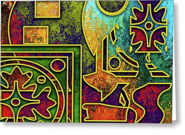 Greeting Card featuring the digital art Abstraction 3 by Chuck Staley