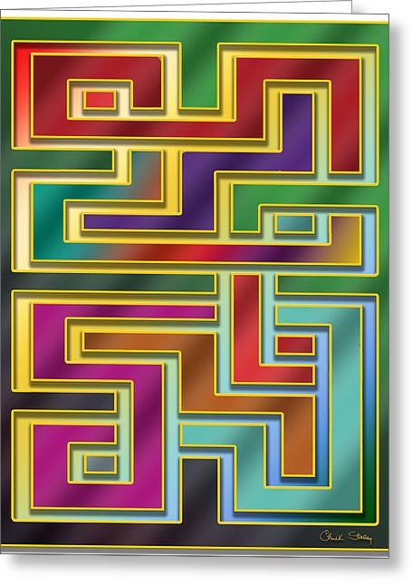 Greeting Card featuring the digital art Abstraction 4 by Chuck Staley