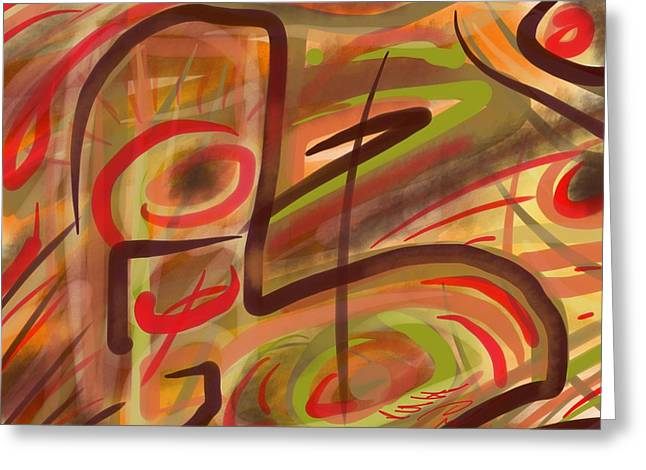 Abstraction Collect 2 Greeting Card