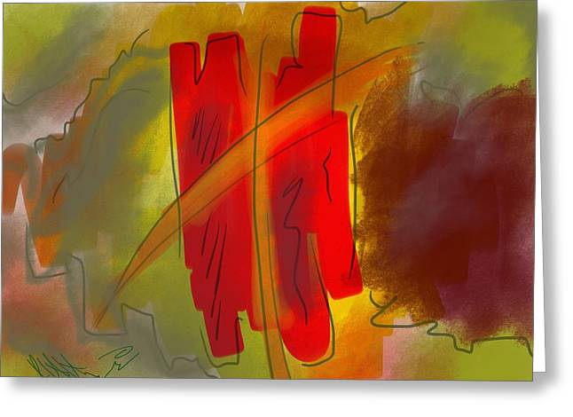 Abstraction Collect 3 Greeting Card