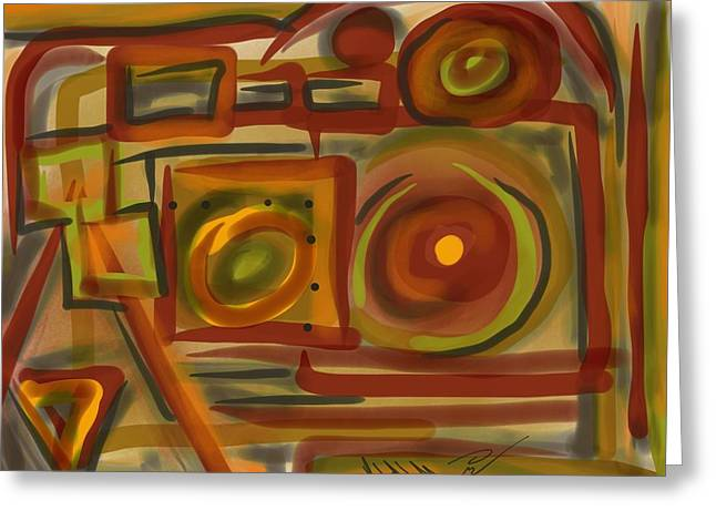 Abstraction Collect 4 Greeting Card