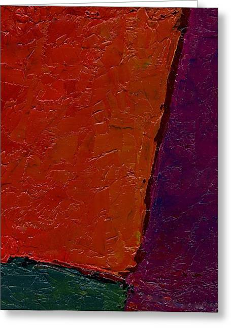 Abstraction Xv Orange Crush Greeting Card by Chris  Riley