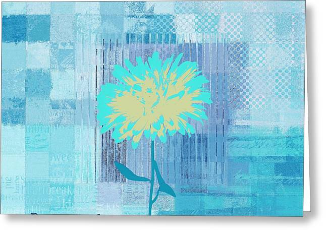 Abstractionnel - 29grfl3c -blue01 Greeting Card by Variance Collections
