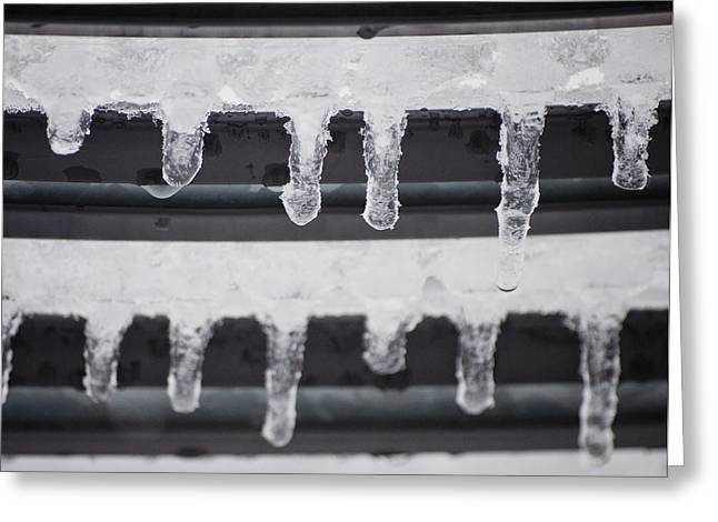 Abstractions - Icicles Greeting Card by Michael Brewer