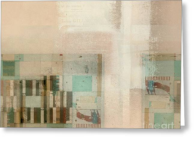 Greeting Card featuring the digital art Abstractitude - C01b by Variance Collections