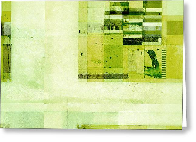 Greeting Card featuring the digital art Abstractitude - C4v by Variance Collections
