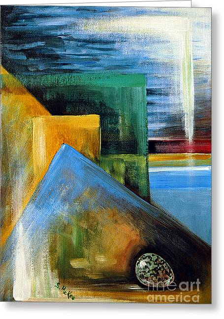 Abstrct And A Plover Egg Greeting Card