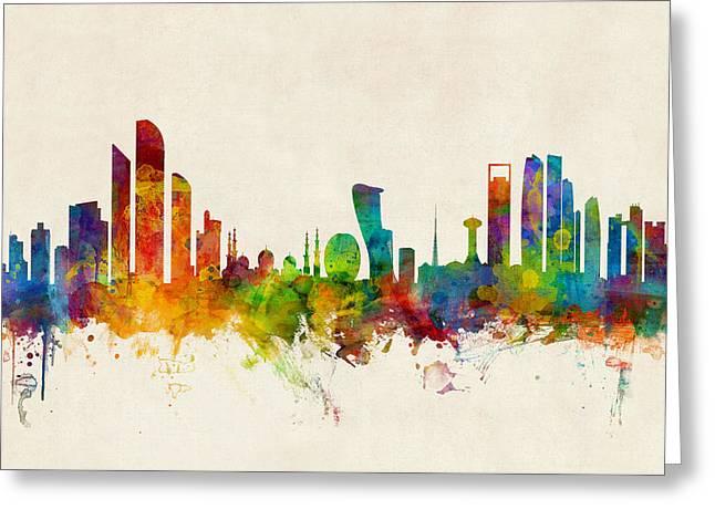 Abu Dhabi Skyline Greeting Card