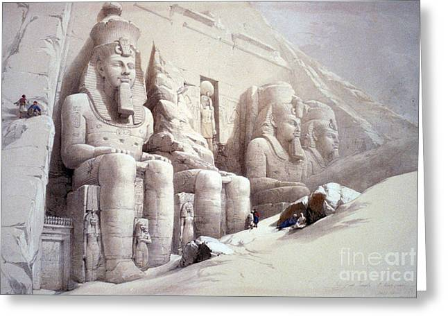Abu Simbel Temple, 1830s Greeting Card by Science Source