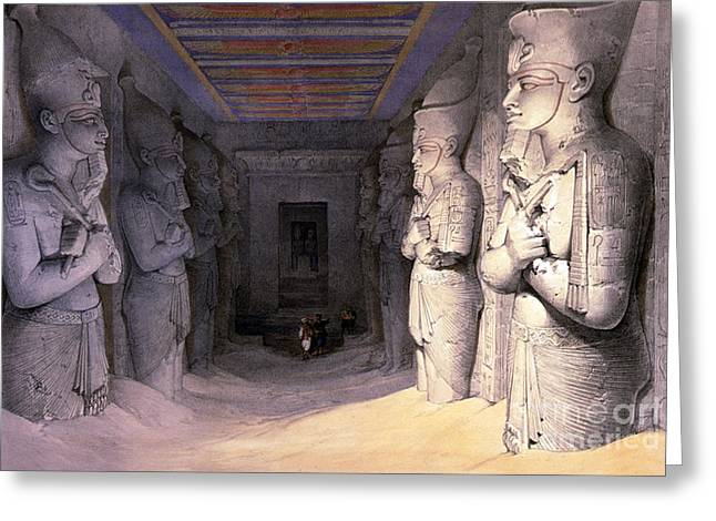 Abu Simbel Temple, 1838 Greeting Card by Science Source
