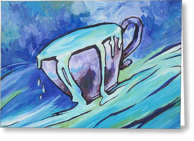Cup Overflows Greeting Cards - Abundance - My Cup Runneth Over Greeting Card by Sandy Tracey