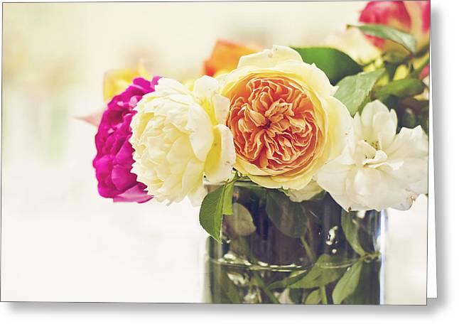 Abundance Of Florabunda Greeting Card by Heather Applegate