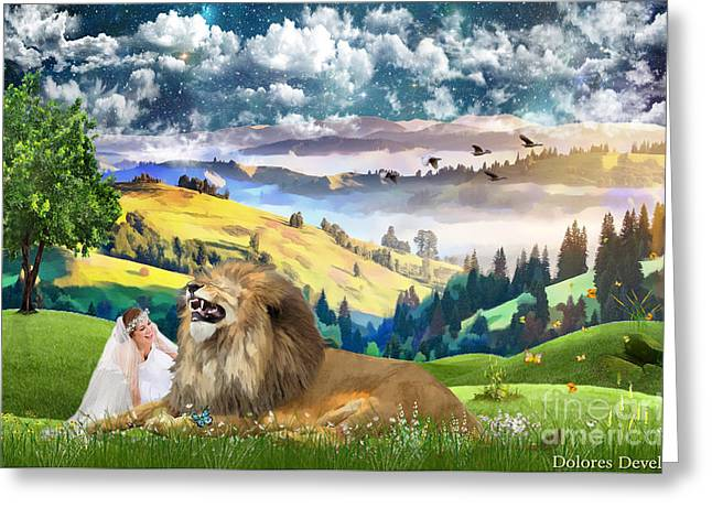 Abundant Joy Greeting Card by Dolores Develde
