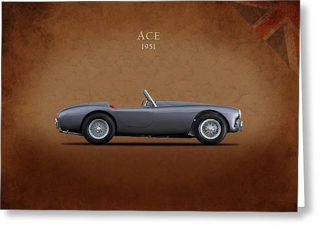 Ac Ace 1951 Greeting Card by Mark Rogan