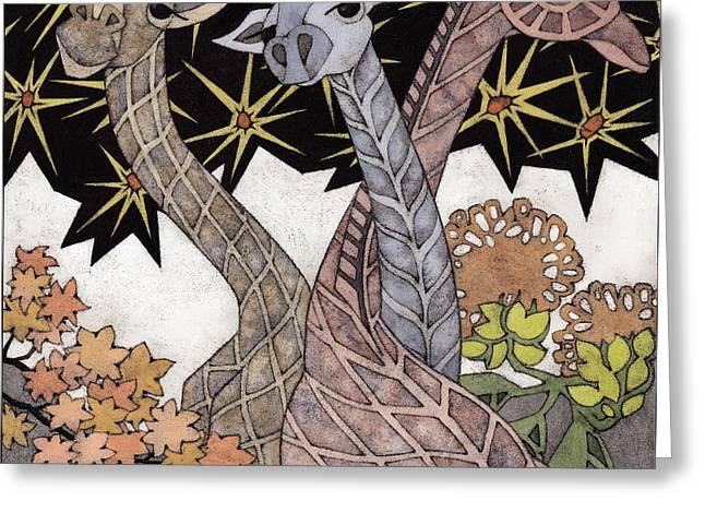 Acacia Eaters Greeting Card by Susan Lishman
