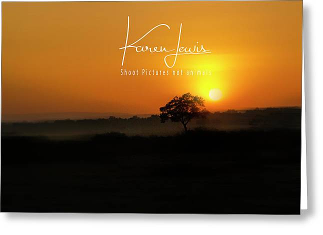 Greeting Card featuring the photograph Acacia Tree Sunrise by Karen Lewis