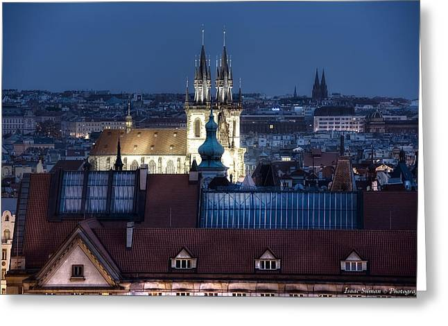 Academy Of Arts, Architecture And Design  Prague Greeting Card by Isaac Silman